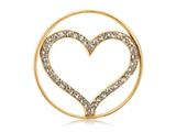 Nikki Lissoni Gold-tone 33mm Clear Swarovski® Sparkling Heart Coin style: C1005GM