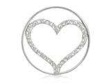 Nikki Lissoni Silver-tone 33mm Clear Swarovski® Sparkling Heart Coin style: C1005SM