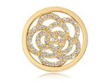 Nikki Lissoni Gold-tone 23.6mm Swarovski® Sparkling Flower Coin style: C1010GS