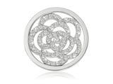 Nikki Lissoni Silver-tone 23.6mm Swarovski® Sparkling Flower Coin style: C1010SS