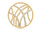 Nikki Lissoni Gold-tone 33mm Clear Swarovski® Rebellious Stripes Coin style: C1012GM