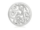 Nikki Lissoni Silver-tone 23.6mm Clear Swarovski® Elements Baroque Coin style: C1018SS