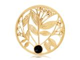 Nikki Lissoni Gold-tone 33mm Black Onyx Tree Coin style: C1024GM