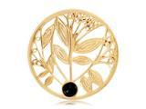 Nikki Lissoni Gold-tone 33mm Black Onyx Tree Coin style: C1024GM
