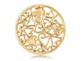 Nikki Lissoni Gold-tone 33mm Baroque Hearts Coin style: C1026GM