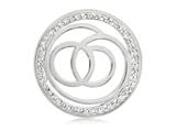 Nikki Lissoni Silver-tone 33mm Clear Swarovski® Sophisticated Coin style: C1032SM