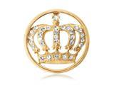 Nikki Lissoni Gold-tone 23.6mm Clear Swarovski® Elements Royal Crown Coin style: C1038GS