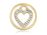 Nikki Lissoni Gold-tone 23.6mm Clear Swarovski® Love Keeper Coin style: C1039GS03