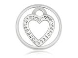 Nikki Lissoni Silver-tone 23.6mm Clear Swarovski® Love Keeper Coin style: C1039SS03