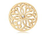 Nikki Lissoni Gold- Tone 33mm Clear Swarovski® Baroque Coin style: C1040GM03