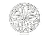 Nikki Lissoni Silver- Tone 33mm Clear Swarovski® Baroque Coin style: C1040SM03