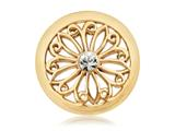Nikki Lissoni Gold-tone 23.6mm Clear Swarovski® Oriental Flower Coin style: C1073GS