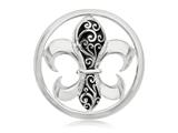 Nikki Lissoni Silver-tone 33mm Enamel French Curly Lily Coin style: C1080SM