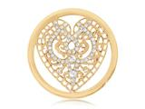 Nikki Lissoni Gold-tone 33mm Clear Swarovski® Elements Wicked Love Coin style: C1084GM