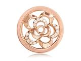 Nikki Lissoni Rose-tone 23.6mm White Swarovski® Surprising Poppy Coin style: C1092RGS
