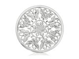 Nikki Lissoni Silver- Tone 43mm Butterfly Garden Coin style: C1098SL