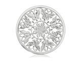Nikki Lissoni Silver- Tone 43mm Butterfly Garden Coin style: C1098SL