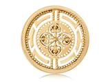 Nikki Lissoni Gold- Tone 33mm Roman Maze Coin style: C1099GM