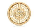 Nikki Lissoni Gold- Tone 33mm Roman Maze Coin style: C1099GM