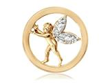 Nikki Lissoni Gold-tone 23.6mm Clear Swarovski® Elements Sparkling Angel style: C1104GS
