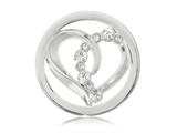 Nikki Lissoni Silver-tone 23.6mm Clear Swarovski®  Connected Love Coin style: C1108SS