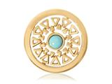 Nikki Lissoni Gold-tone 23.6mm Turquoise Inner Beauty Coin style: C1110GS04