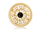 Nikki Lissoni Gold-tone 23.6mm  Black Onyx Inner Beauty Coin style: C1110GS06