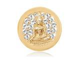 Nikki Lissoni Gold-tone 23.6mm Swarovski® Sparkling Buddha Coin style: C1114GS