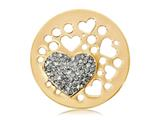Nikki Lissoni Gold-tone 33mm Grey Swarovski® Catch My Heart Coin style: C1128GM