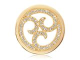 Nikki Lissoni Gold-tone 33mm Clear Swarovski® Sparkling Curls Coin style: C1131GM