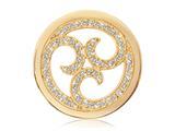 Nikki Lissoni Gold-tone 33mm Clear Swarovski® Sparkling Curls Coin style: C1131GM