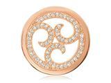 Nikki Lissoni Rose-tone 33mm Swarovski® Sparkling Curls Coin style: C1131RGM