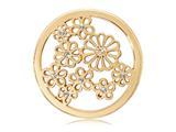 Nikki Lissoni Gold-tone 33mm Clear Swarovski® Sparkling Daisies Coin style: C1133GM