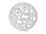 Nikki Lissoni Silver-tone 33mm Clear Swarovski® Element Treeoflove Coin style: C1135SM