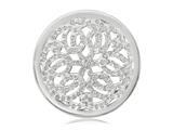 Nikki Lissoni Silver-tone 33mm Clear Swarovski® Sparkling Baroque Coin style: C1136SM