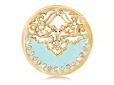 Nikki Lissoni Gold- Tone 33mm Clear Swarovski® Enamel Blue Coin style: C1139GM