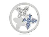 Nikki Lissoni Silver-tone 33mm Clear/blue Swarovski® As Pure As.. Coin style: C1150SM