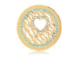 Nikki Lissoni Gold-tone Clear/black Swarovski® Wild Love Coin style: C1157GM