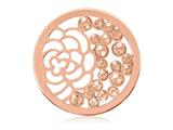 Nikki Lissoni Rose-tone 33mm Orange Swarovski® China Garden Coin style: C1158RGM