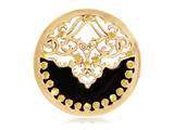 Nikki Lissoni Gold- Tone Yellow Swarovski® Ename Velvet Coin style: C1159GM