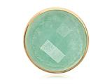 Nikki Lissoni Gold-tone 33 Mm Faceted Deep Aqua Quartzite Coin style: C1162GM