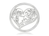 Nikki Lissoni Silver-tone 33mm Cupids Heart Coin style: C1177SM