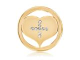 Nikki Lissoni Gold-tone 23.6mm Swarovski® Elements Cross My Heart Coin style: C1191GS