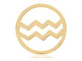 Nikki Lissoni Gold- Tone 33mm Aquarius Coin style: C119201GM