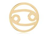 Nikki Lissoni Gold- Tone 33mm Cancer Coin style: C119206GM
