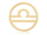 Nikki Lissoni Gold- Tone 33mm Libra Coin style: C119209GM