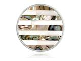 Nikki Lissoni Silver-tone 33mm Striped Shell Coin style: C1194SM