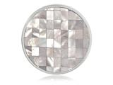 Nikki Lissoni Silver-tone 33mm Mother Of Pearl Mosaic Coin style: C1196SM