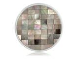 Nikki Lissoni Silver-tone 33mm Shell and Mop Mosaic Coin style: C1197SM