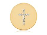 Nikki Lissoni Gold-tone 23.6mm Swarovski® Elements Sparkling Cross Coin style: C1201GS